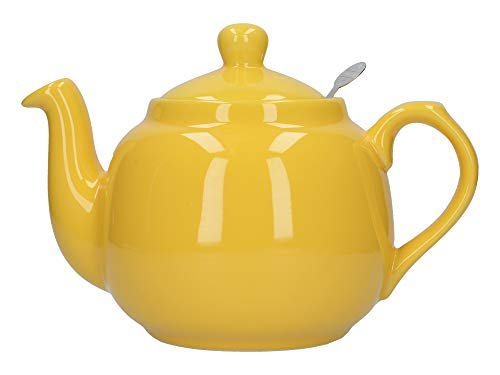 London Pottery Farmhouse - Teiera con infusore, in ceramica, giallo, 4 tazze (1,2 litri)