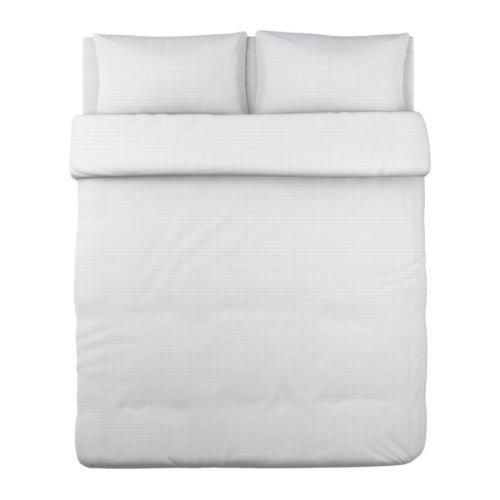 Ikea Ofelia VASS Duvet Cover and Pillowcases, King, White