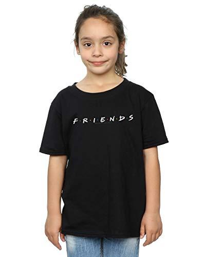 Absolute Cult Friends Niñas Text Logo Camiseta Negro 12-13 Years