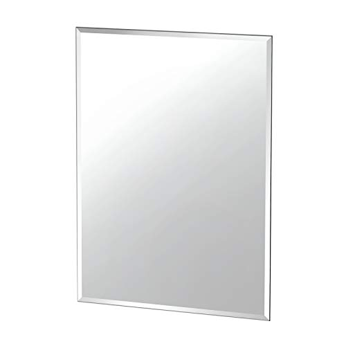 Gatco 1802 Flush Mount Frameless Rectangle Mirror, 31.5' H x 23.5' W, Silver