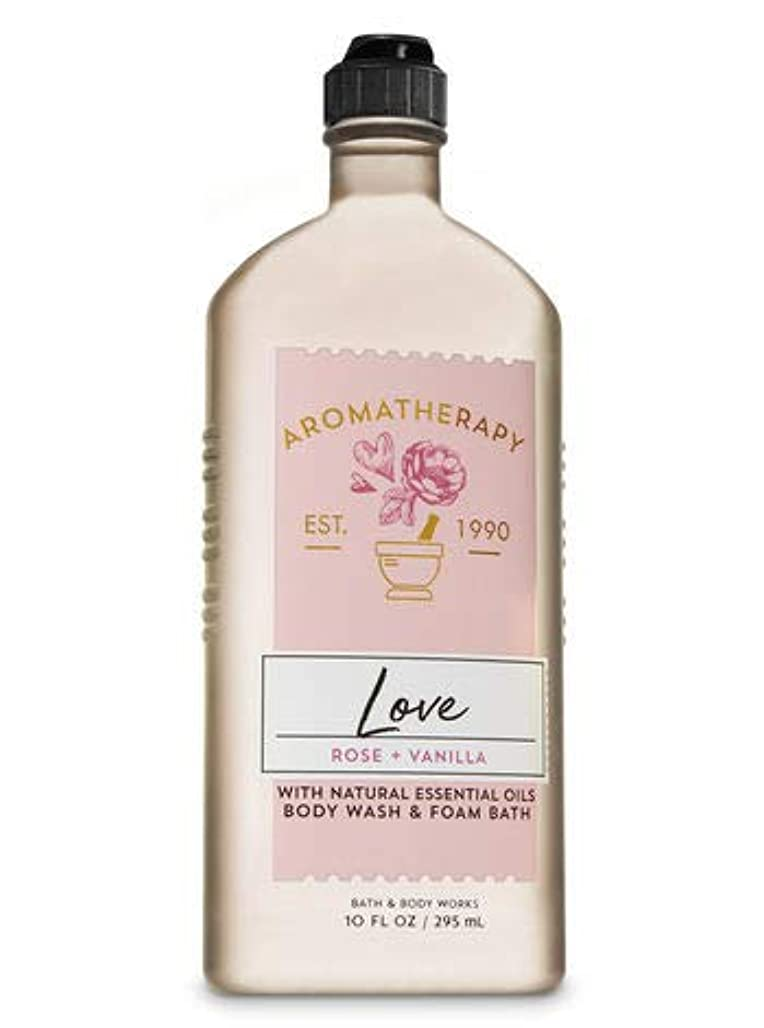 作業曲線スペシャリスト【Bath&Body Works/バス&ボディワークス】 ボディウォッシュ&フォームバス アロマセラピー ラブ ローズ&バニラ Body Wash & Foam Bath Aromatherapy Love Rose & Vanilla 10 fl oz / 295 mL [並行輸入品]