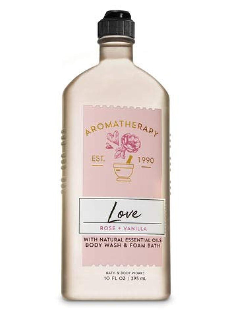 振り返る時抵抗する【Bath&Body Works/バス&ボディワークス】 ボディウォッシュ&フォームバス アロマセラピー ラブ ローズ&バニラ Body Wash & Foam Bath Aromatherapy Love Rose & Vanilla 10 fl oz / 295 mL [並行輸入品]
