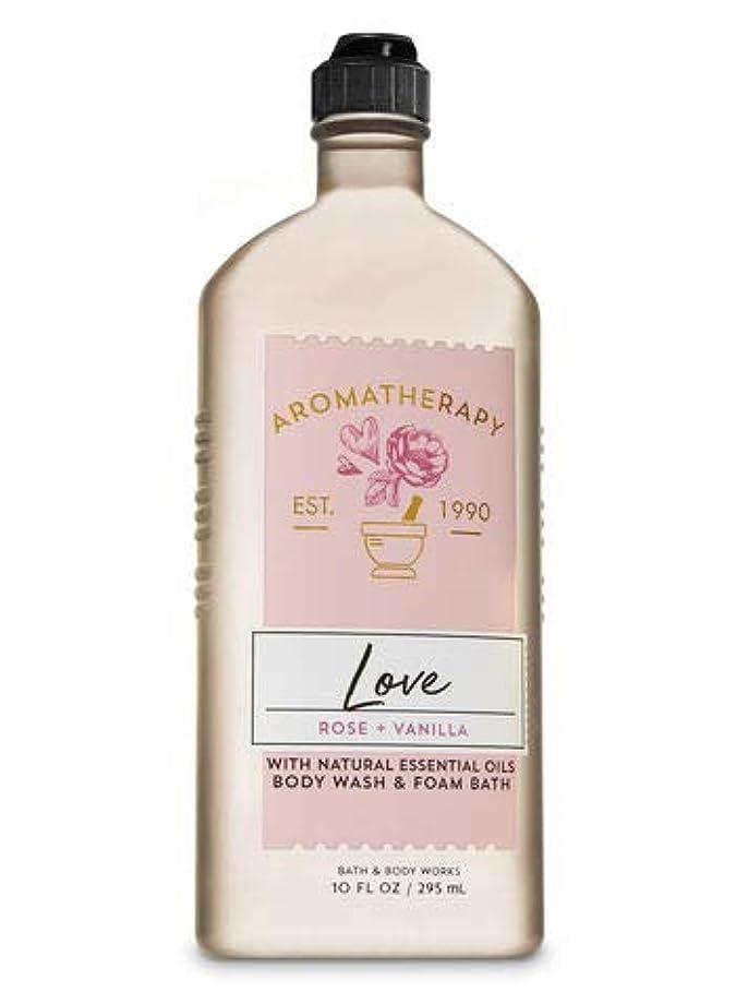 信頼性続けるひどい【Bath&Body Works/バス&ボディワークス】 ボディウォッシュ&フォームバス アロマセラピー ラブ ローズ&バニラ Body Wash & Foam Bath Aromatherapy Love Rose & Vanilla 10 fl oz / 295 mL [並行輸入品]