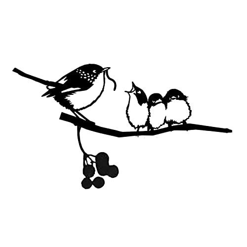 Yyoutop Kolibri-Metall-Vogel-Kunst-Dekoration für deinen Hof oder Baum Metallkunst und Gartengarten Ostern Dekoration Jardineria Decoracion (Color : E)