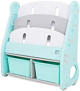 TheTickleToe Bookshelf for Kids Toy Storage Baskets Rack 80 L X 34 W X 85 H (Green)