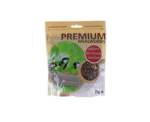 lrsupplies 75g Premium Mealworms Wild Bird Food Garden Wildlife Feed Dried...