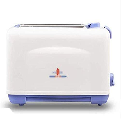 2 rebanadas retro Tostadora 2 ranuras de ajuste automático 750 W Función de descongelación y recalentamiento Thawning función leilims plástico extraíble miga contenedor blanco multifunción RVTYR