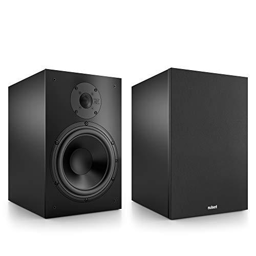 Nubert nuBox 383 Regallautsprecherpaar | Lautsprecher für Stereo & Musikgenuss | Heimkino & HiFi Qualität auf hohem Niveau | Passive Regalboxen mit 2 Wegen | Kompaktlautsprecher Schwarz | 2 Stück