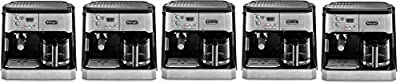 DeLonghi BCO430 Combination Pump Espresso and 10-cup Drip Coffee Machine with Frothing Wand, Silver and Black (5)