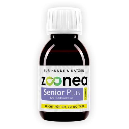 Zoonea Senior Plus Liquid (100 ml) - afrikanische Teufelskralle für Hunde & Katzen - aus 40{aa9f288e3e50ab7db253c478cf310da895b493ae12703226355dc75b61b623e8} Teufelskrallenwurzel (Sud) - Flüssige Teufelskralle mit Pipette