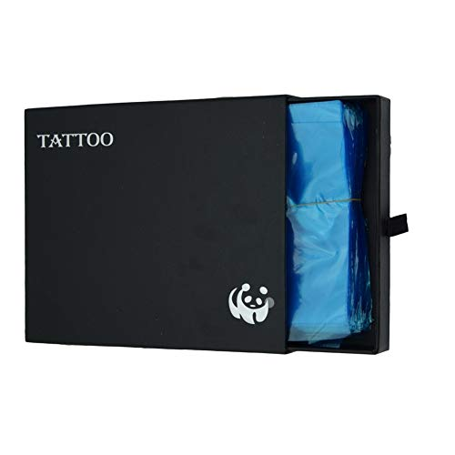 纹身枪袋,新星200个纹身纹身一次性纹身供应机盖袖袋蓝色塑料机械袋纹身用品