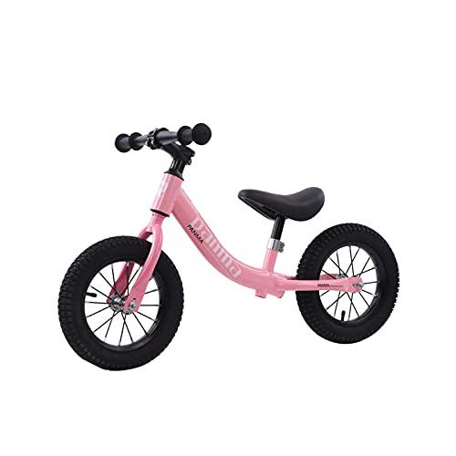 SXLONG Bicicleta De Equilibrio para Niños, Bicicleta con Marco De Acero Al Carbono con Neumáticos Ajustables E Inflables, Cochecito De Entrenamiento Ligero para Niñas Y Niños De 4 A 9 Años
