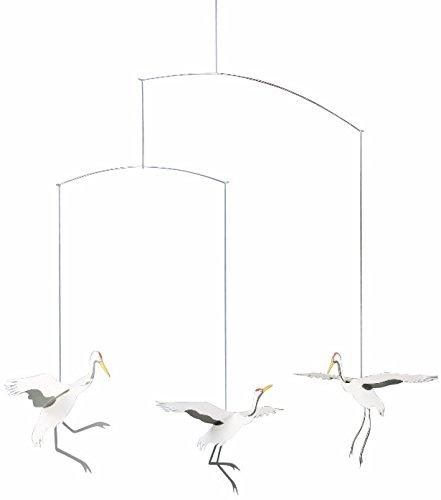 Flensted Mobiles - Kranich - Tanzende Kraniche - Mobile - Windspiel - 45 x 45 cm