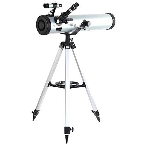 Telescopio Astronómico Espacial Telescopio Astronómico Reflector Performance 700-76 para Mirar Las Estrellas del Cielo