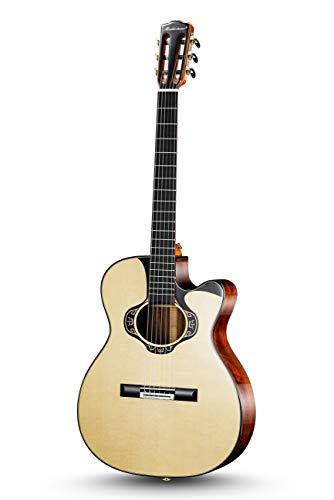Unbekannt Merida Extrema Überschreiten Benutzerdefinierte Nylon-Gitarre OM Cutaway Natürlich