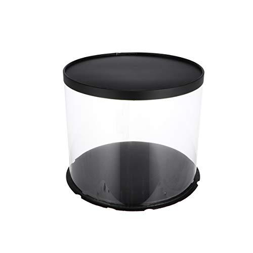 Hemoton – Caja de plástico Transparente con Tapa para Tartas, para panadería...