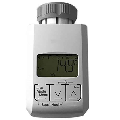 CareMont Controlador de Temperatura del Actuador de la VáLvula del Temporizador del Termostato Programable Regulador de Control de Temperatura Ligent