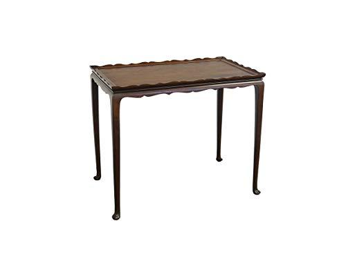 Antike Fundgrube Beistelltisch Blumentisch Tisch Louis Philippe Stil Nussbaum 63x77x47 cm (8898)
