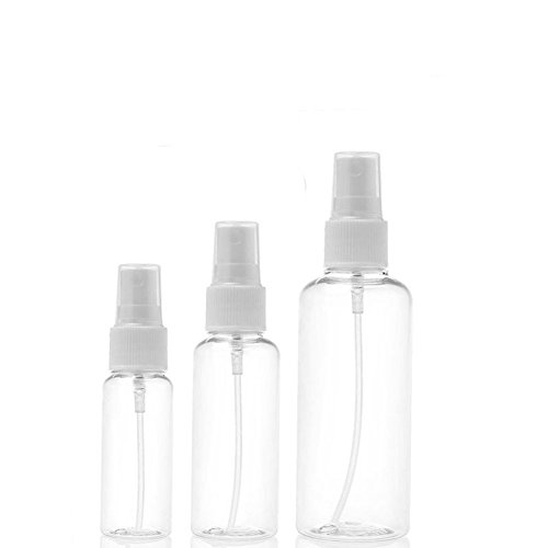 Distinct 3pcs Travel Plastic Perfume Atomizer Bouteille Vide Spray 30ml/50ml/100ml
