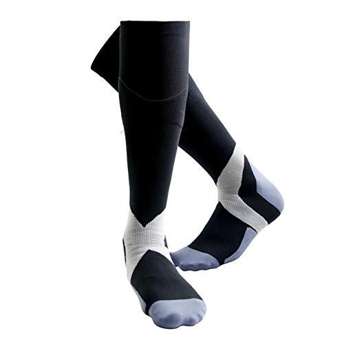 YRDZ Unisex Sports Compression Socks - Lange Kompressionsstrümpfe Für Krampfadern, Ödeme, Flug, Schwangerschaft