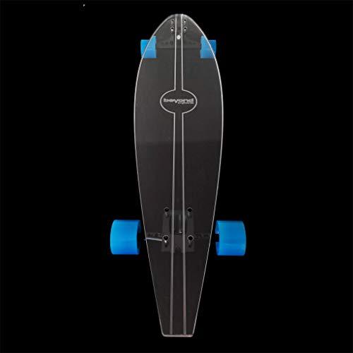 Beyond Longboards Longboard Transparente - Modelo Earth con Ejes Negros (Ruedas Azules)