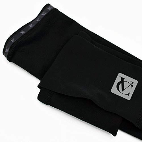VeloChampion Thermo Tech Lite jambieres Couleur Noire Cycling Leg Warmers Black (Black, XL)