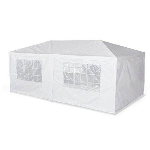 Alice's Garden - Tente de réception 3 x 6 m - Aginum - Blanc - à Utiliser comme pavillon, pergola, chapiteau ou tonnelle.