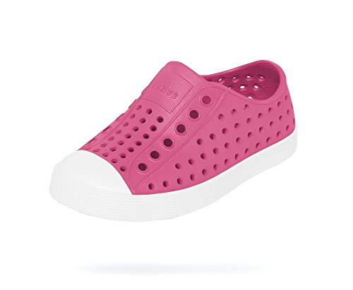 Native Shoes, Jefferson, Kids Shoe, Hollywood Pink/Shell White, 11 M US Little Kid