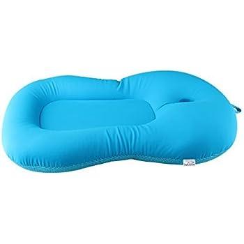 AIPINQI Baby Bath Cushion Pink Newborn Infant Bath Support Lounger Baby Cushion Soft Anti-Slip Bath Seat 0-6 Month Infant Bath Pillow