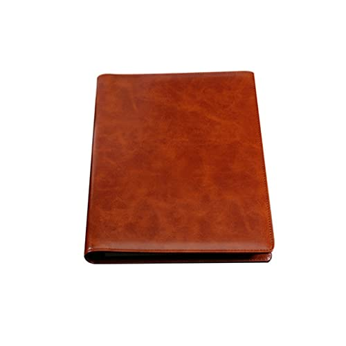 ZANZAN Cuadernos de Notas Cuaderno B5 Engrosado Diario Simple Carpeta De Reuniones Multifuncional Bloc De Notas Papelería Regalo (Cuero De PU) blocs de Notas (Color : Brown)