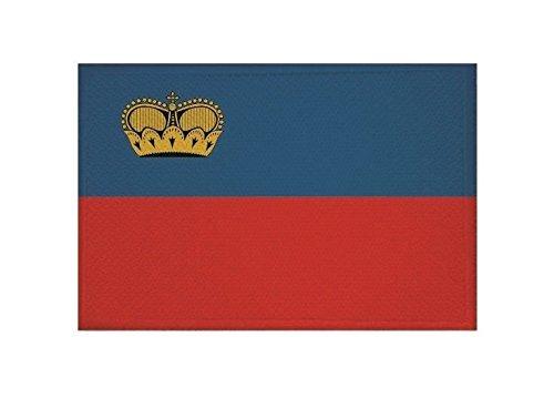 U24 Aufnäher Liechtenstein Fahne Flagge Aufbügler Patch 9 x 6 cm