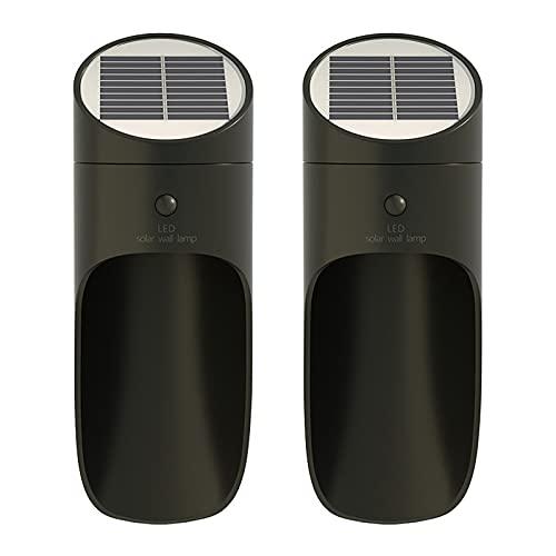 Obubble 2 unidades de lámparas solares LED para exterior con detector de movimiento para exteriores (03)