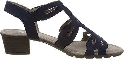 Gabor Shoes Damen Casual Riemchensandalen, Blau (Bluette 16), 43 EU