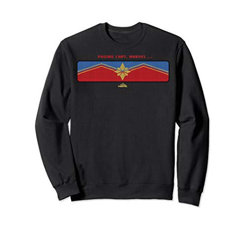 Captain Marvel Paging Capt. Marvel Logo Sweatshirt