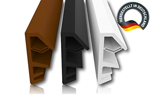 Fensterdichtung Schwarz 5m - 4mm Nutbreite / 12mm Falz aus TPE hochwertige Gummidichtung Holzfensterdichtung Fenster gegen Zugluft Lärm (schwarz 5m)