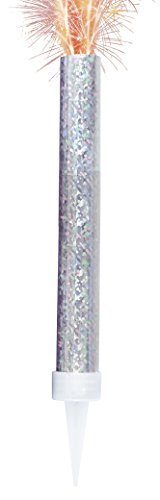 Unique Party 37416 - Prism Silver Fountain Candles, Pack of 2