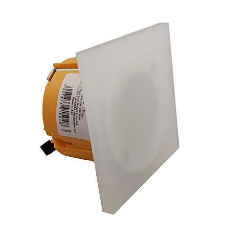 3W LED wandlamp alleen glas voor Ø 60 mm ISO schakelaardoos. Stiegenverlichting trapverlichting voor 68 mm inbouwdoos holle wanddoos