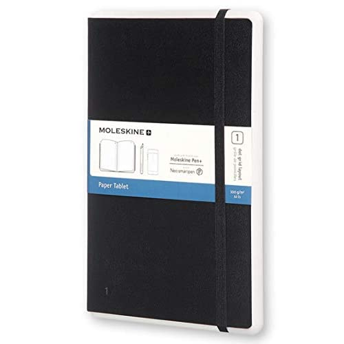 Moleskine Notebook Paper Tablet, Taccuino Digitale con Pagine Puntinate e Copertina Rigida, Notebook Adatto all'Uso con Pen Moleskine+, Colore Nero, Large (13 x 21 cm)