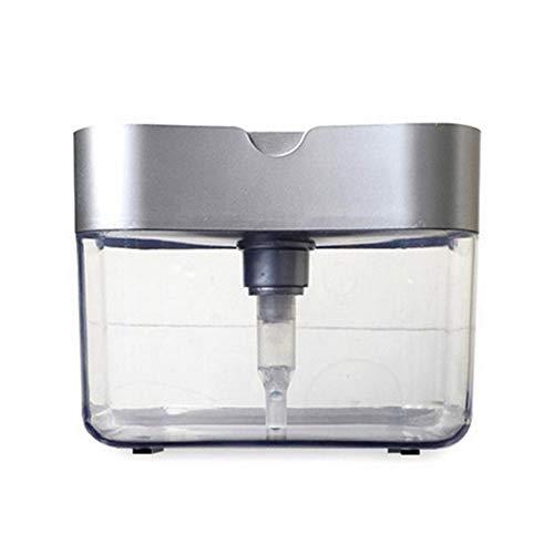Dispensador de jabón y conjunto de esponjas, Dispensador de jabón de la bomba del organizador del fregadero con soporte de esponja, donante de jabón líquido, dispensador de lavavajillas Utensilios de