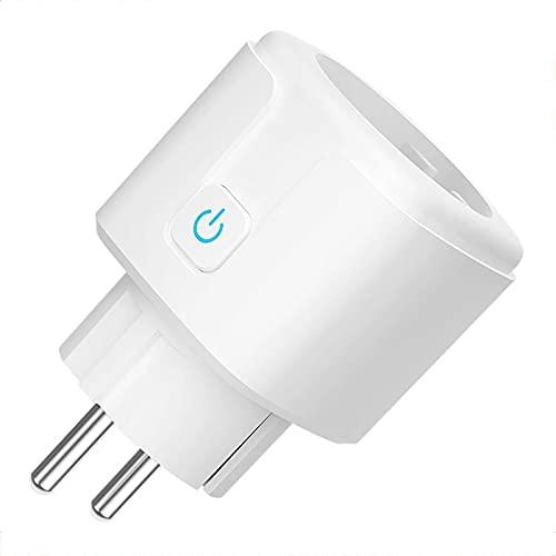Tuya Smart Life Enchufes inteligentes, interruptor de enchufe inteligente WIFI funciona con Alexa Echo Asistente de Google, salida inteligente de control remoto con función de temporizador,1 pack