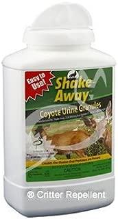 Shake-Away All Natural Deer & Large Animal Repellent (Coyote Urine Granules) 28.5 oz size - New EZPour Bottle & Cap