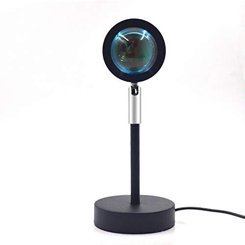 Lámpara de proyección arcoíris para puesta de sol, lámpara de suelo, proyección de ambiente