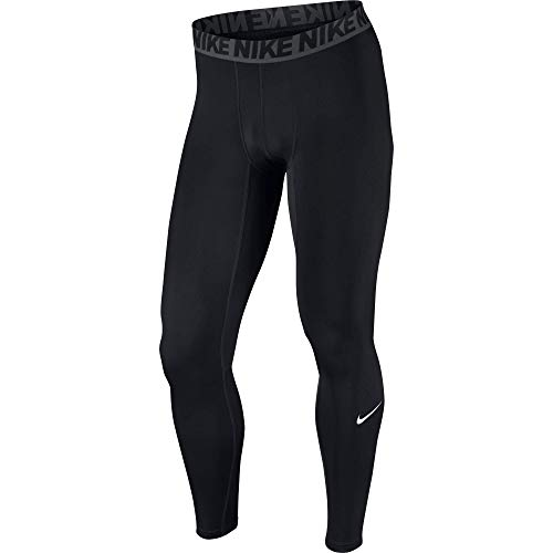 NIKE Men's Base Layer Training Tights, Black/Dark Grey/White, Medium