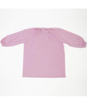 10XDIEZ Bata Escolar Unisex Rosa - Medida Bata Infantil - 0-2 años (86-92 cm de Altura)