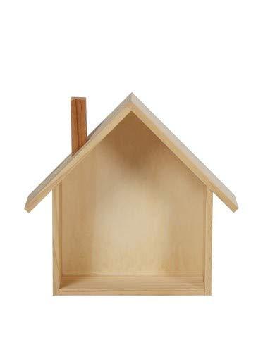 Lo+DeModa House Wood Étagère, Bois, pin, 25,5 x 24 x 0.44 cm