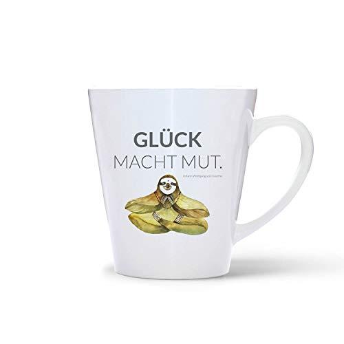 Cup met tekst 'Glück Macht Mut'