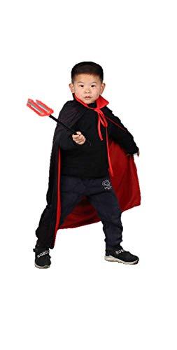 Matissa Kids Capa Pirata Doble Cara Bata y Parche de Ojo Halloween Disfraz