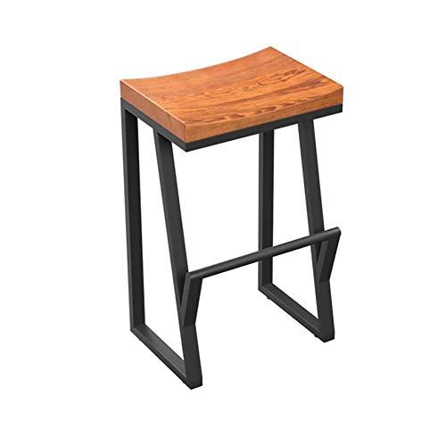 TXX Stuhl Gebogener Sitz Retro Eisenhocker, Haushaltsfußhocker Stioll Einfach Und Bequem,75Cm,75Cm
