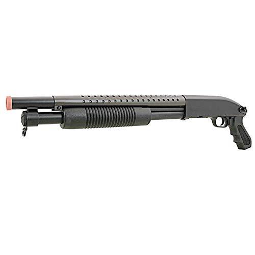 m58b airsoft pump action shotgun rifle 400 fps police(Airsoft Gun)