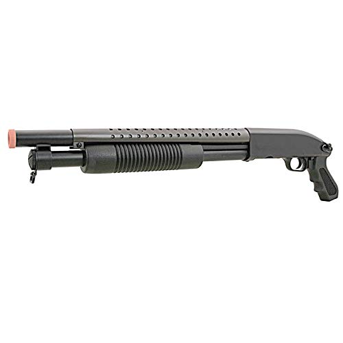 m58b airsoft pump action shotgun rifle 400 fps police(Airsoft Gun)
